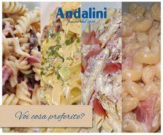 Quale pasta preferite con #panna e #speck? #Andalinilatuapasta