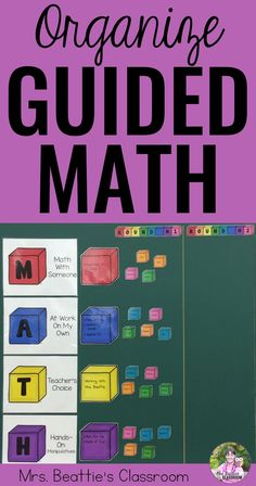 Using Guided Math in your classroom this year? This resource will help you get your guided math small groups organized so student learning happens easily! This classroom resource is the perfect way to display the student work stations in your guided math program.