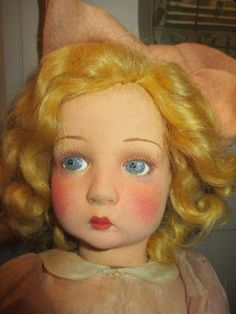 SALE PENDING - Gorgeous Antique Lenci Doll - All Original - Nice from nostalgicimages on Ruby Lane