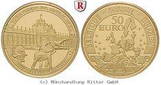 RITTER Belgien, 50 Euro 2010, Königliches Museum für Zentralafrika, Gold, PP #coins #numismatics