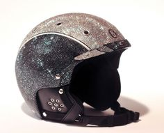Covered in 20,000 Swarovski Crystals, Golden Shadow, and Black Diamond, the going price for this helmet is about 19 grand.