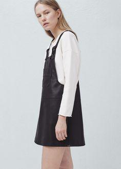 Pockets pinafore dress - Dresses for Woman | MANGO Slovenia