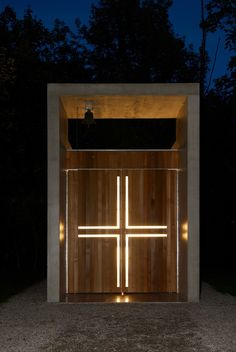 Built by Kunze Seeholzer in Kolbermoor, Germany with date 2007. Images by Jann Averwerser . Standing isolated in a clearing in the middle of the park of the old Kolbermoor spinning mill is the Chapel of St. Be...