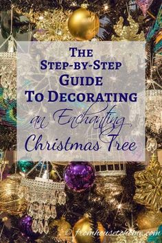 I love this step by step guide for how to decorate a Christmas tree. It has some great tips for making your Christmas tree decorations look awesome! And I love the glam purple, gold and blue color scheme. Blue Christmas, Christmas Holidays, Christmas Bulbs, Christmas Ideas, Christmas Crafts, Christmas Stuff, Christmas Goodies, Christmas Inspiration, Holiday Ideas