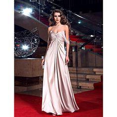 θήκη / στήλη off-the-ώμο πάτωμα-μήκους ελαστικό σατέν φόρεμα βράδυ εμπνευσμένο από την Γκόλντι Χον – EUR € 118.17