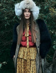Marine Deleeuw wears layers up in the autumn collections for Harper's Bazaar Mexico magazine August 2016