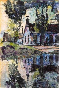 Jan Altink (1885 -1971 ) -Zijn expressionisme was het sterkst in de jaren twintig, vooral in het uitbeelden van het Groninger landschap met ongemengde kleuren en schaduwloze vlakken. Als men van elders komt, moet men wel even aan dit land wennen, zegt De Gruyter. Maar Altink heeft volgens hem gevoel voor dit elementaire landschap en laat ons vooral zijn geluksbeleving ervan ervaren, in kleur, licht en ruimte.