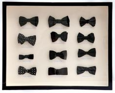 Bow tie shadow box