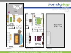 Carnaby Village Townhomes Columbus Ohio Basement Living Rooms, Living Room Bedroom, Basement For Rent, Bath Town, Patio Kitchen, Columbus Ohio, Second Floor, Dining Area, Townhouse