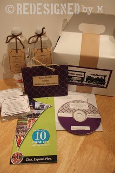 What to put in your Out-Of-Town gift boxes.
