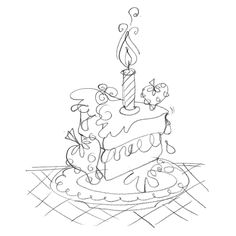 kate smith designs birthday cake sketch