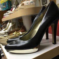Black and gold heels. Worn very little. Nine West Shoes Heels