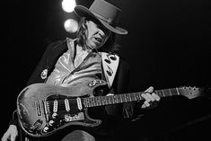 """Stevie Ray Vaughan's Fender Stratocaster  The late guitar great called his favorite instrument Number One. Also known as Vaughan's """"First Wife,"""" the guitar – a 1963 Fender Strat fitted with a 1962 neck – was famously battered from years of onstage abuse."""