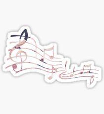 Floral Music Note Sticker