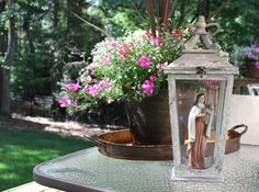 Making your own saint shrine with a lantern is this easy