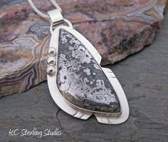 Silver Ore pendant necklace with sterling by kcsterlingstudio, $285.00