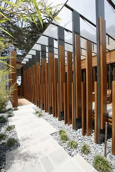 Fenestration of outdoor pathway and undercover area