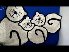 Tapetes de barbante: Família Gatinhos PARTE 1 - YouTube