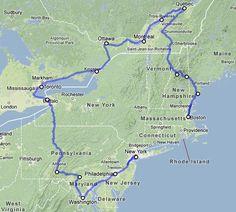 USA Rundreise Ostküste Route und Reiseverlauf der schönen Rundreise