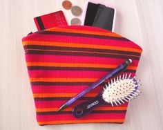 Fair Trade Zipper Pouch Clutch Cosmetic Makeup Cell by TheFairLine, $18.00