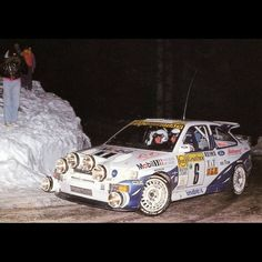 Classic Monte Carlo Rally action with Francois Delecour in the Ford Escort Cosworth