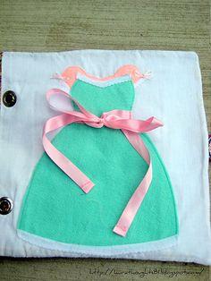 Tie a bow quiet book page