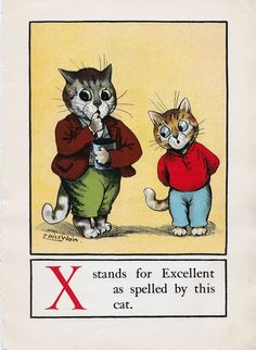 A CAT ALPHABET - X