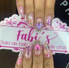 Nail Games, Pink Nails, Nail Art Designs, Manicures, Style, Bling Nails, Enamels, Long Nail Designs, Short Nail Manicure