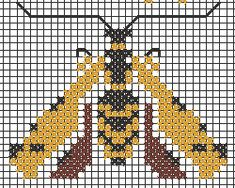 A design in Art Deco style. The row of bees in the second drawing has a blue border above. Cross Stitch Bird, Cross Stitching, Cross Stitch Embroidery, Cross Stitch Patterns, Animal Art Projects, Clay Art Projects, Art Deco Borders, Preschool Art Activities, Needlepoint Patterns