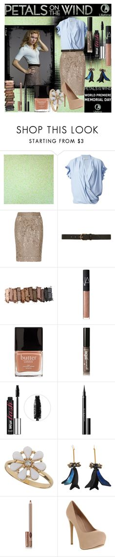 """""""Petals on the Wind"""" by elizaheyheybeth ❤ liked on Polyvore featuring Pinko, Burberry, Dorothy Perkins, Urban Decay, NARS Cosmetics, Butter London, Benefit, Givenchy, Marni and Charlotte Tilbury"""