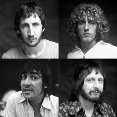 """moonshine-and-cigarettes: """"John Entwistle, Roger Daltrey and Pete Townshend with Keith Moon's daughter, Mandy """""""