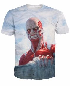 Attack on Titan Giant Humanoid Colossus Titan Cool 3D T-Shirt
