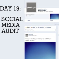 Today's 31 days of Spring Cleaning tip: perform a social media audit to clean up anything you wouldn't want future employers/strangers to see. Get our tips here: http://www.geeksugar.com/How-Secure-Social-Network-Profiles-22273243