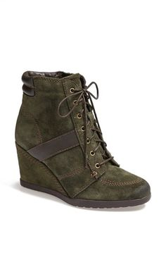 Naturalizer 'Paitlyn' Suede Wedge Bootie available at #Nordstrom