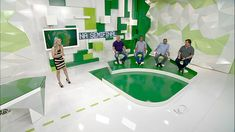 Cenário programa Jogo Aberto, Tv Bandeirantes