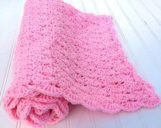 Easy Crochet Blanket Pattern, Crochet Throw Blanket, Crochet Afghan Pattern, Bobble and V Stripe Crochet Blanket Baby Afghan Crochet Patterns, Easy Crochet Blanket, Crochet Afghans, Baby Afghans, Baby Patterns, Crochet Baby, Chevron Crochet, C2c Crochet, Beginner Crochet