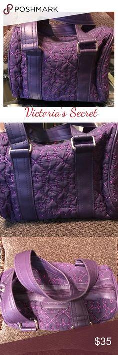 """Victoria's Secret Purple Quilted Purse / Bag NWOT Victoria's Secret Purple Quilted Bag / Purse  NWOT.  Measurements:  H 6.6"""" W 10"""" Victoria's Secret Bags"""