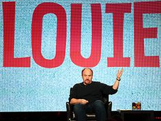 """Louie on HBO. Brilliant, wrenching and totally hilarious. Everything I needed to know about show business, Joan Rivers taught me on """"Louie. Louis Ck, Bbc America, Tv Reviews, Father Figure, I Need To Know, 13 Year Olds, Comedians, Favorite Tv Shows, Haha"""