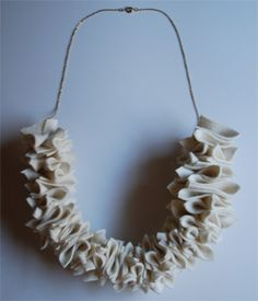 Heather Keiko - ruffle necklace
