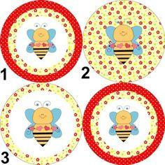 """Latinha """"mint to be"""" personalizada.  Tema: abelha 1. Tamanho da latinha: 5cm de diâmetro x 1cm de altura. Cor da latinha: prateada. Impressão: à laser, colorida, papel adesivo.    www.boutiquedeencantos.elo7.com.br"""