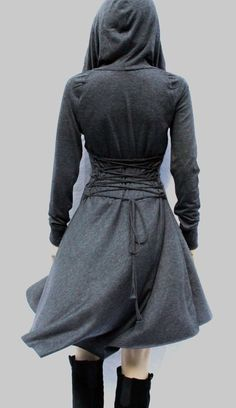Dress , Hoodies dress, Grey Dress, Casual , Day Dress ,Low High Dress,Women Dress on Etsy, $99.00