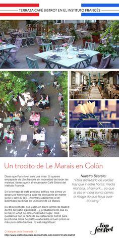 Terraza Café Bistrot en el Instito Francés. Un trocito de Le Marais en Colón.