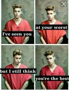 Justin I've seen you at your worst and I still think your the best❤❤❤ love you justin. Justin Bieber Quotes, Justin Bieber Facts, I Love Justin Bieber, I Love Him, Love You, My Love, Bae, Be My Hero, You're Awesome