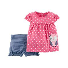 Child of Mine by Carter's Toddler Girl Short Sleeve Tunic & Shorts, Outfit Set, Size: 25 Months, Pink Toddler Girl Shorts, Toddler Girl Outfits, Toddler Fashion, Kids Outfits, Kids Fashion, Toddler Boys, Toddler Chores, Trendy Baby Boy Clothes, Babies Clothes