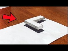 How to draw a floating Letter L- Easy 3d tutorial - YouTube