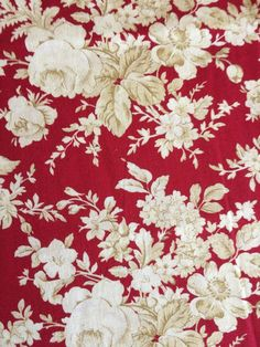 Very pretty red/beige floral fabric. For use in quilting and crafting, superior quality. By Marcus Fabrics. Floral Fabric, Linen Fabric, Cotton Fabric, Tree Quilt, Fabric Squares, Rose Cottage, Embroidery Thread, Gifts For Friends, My Etsy Shop