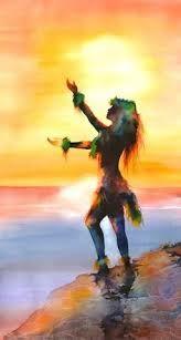 watercolor hula girl frangipani - Google Search