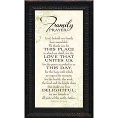 Artistic Reflections Family Prayer Wall Art $37