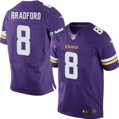 Men s Nike Minnesota Vikings  8 Sam Bradford Elite Purple Team Color NFL  Jersey Redskins Josh 818852e70