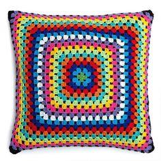 Crochet Cushion Cover, Crochet Cushions, Crochet Pillow, Crochet Tablecloth, Crochet Doilies, Crochet Baby, Granny Square Crochet Pattern, Crochet Squares, Crochet Patterns